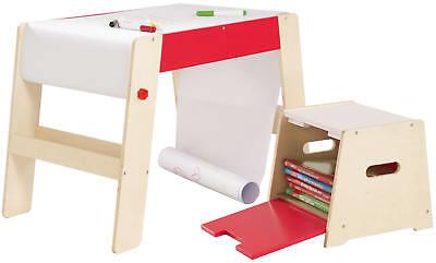roba Maltisch mit Hocker Kindermaltisch Tisch Papierrolle Holz ab 18 Monate | eBay