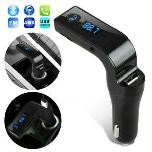 Handsfree-Bluetooth-Car-Kit-USB-Charger-FM-Transmitter-Player-For-Radio-MP3-T7Y1
