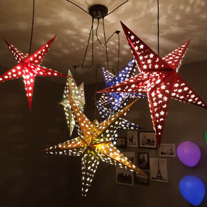 30-45-60cm-3D-Five-Pointed-Star-Paper-Lampshade-Wedding-Ceiling-Hanging-Decor