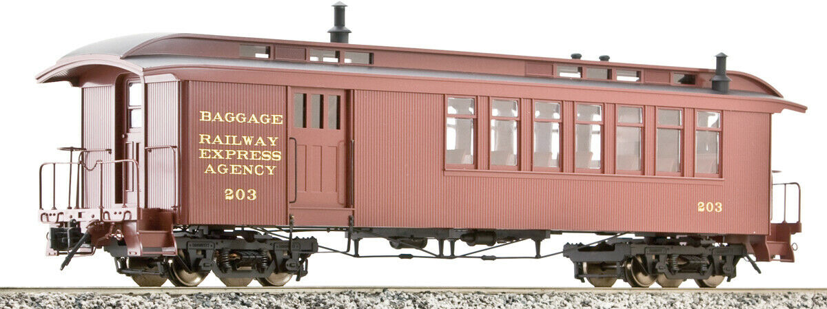 AMS (Accucraft Trains) - D&RGW Passenger Cars, Combine, 1 20.3 Scale