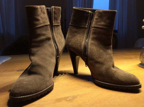 Coccinelle Gr40 Design Damen Shoese Grau Boots Beige Leder Schuhe OXP0k8nw