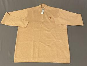 Peter Millar Crown Sport 1/4 Zip Golf Pullover Sweater (M, Beige BSUG, CB) $190