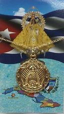 """Caridad de el cobre medalla y Oraciones con cadena20 """"/O.Lady of Charity medal"""