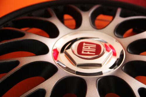 """FIAT.. quantità 4 Set di 4 x 16/"""" Copricerchi//coperchi tappi BLACK /& SILVER"""