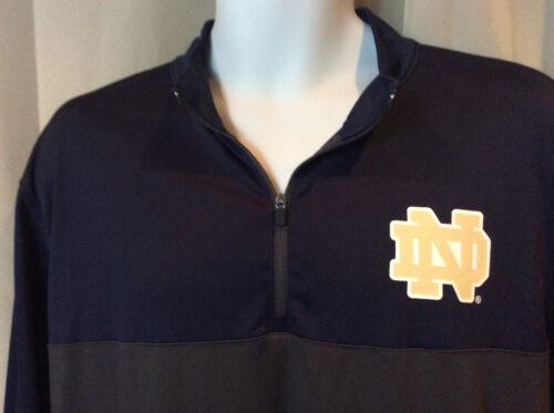 Azul Azul Nwt Hombre Camisa ½ marino cremallera Dame Notre Irish deportiva Gris Fighting Grande qTnOzwPq