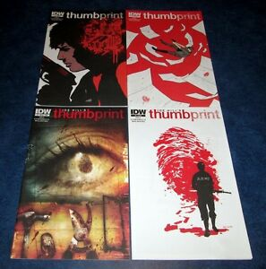 joe hill's THUMBPRINT #1 #1 subscription variant #2 #3 1st print set IDW COMIC