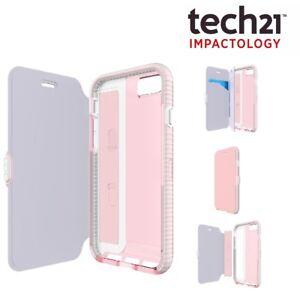 original 100 genuine tech21 pink evo wallet flip case for iphone 6 6s 7 and 8 ebay. Black Bedroom Furniture Sets. Home Design Ideas