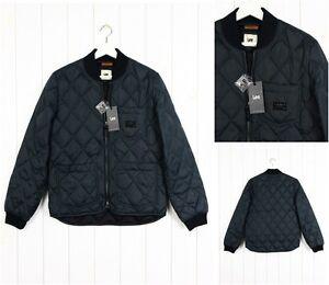 NUEVO-LEE-Acolchado-Bomber-chaqueta-Descolorido-Negro-Verde-gris-50-Duck-101