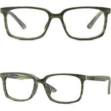 Leichte Vollrand Eckig Herren Damen Brillen Kunststoff Holz Gestell Fassung Grün