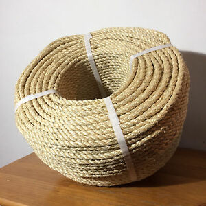 Corde de sisal de 8 mm x 100 m, égratignure de chat en fibres naturelles à 100%, Decking-terrasse, jardin, tonnelle