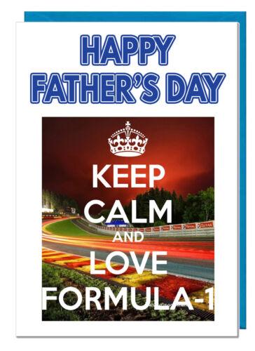 For Dad Grandad Stepdad Daddy Husband Keep Calm Formula 1 F1 Father/'s Day Card