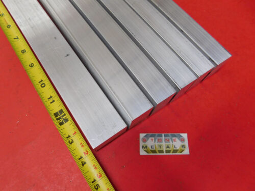 "6 Pieces 1/"" X 1-1//2/"" ALUMINUM 6061 RECTANGLE BAR 14/"" long T6511 SOLID Mill Stock"