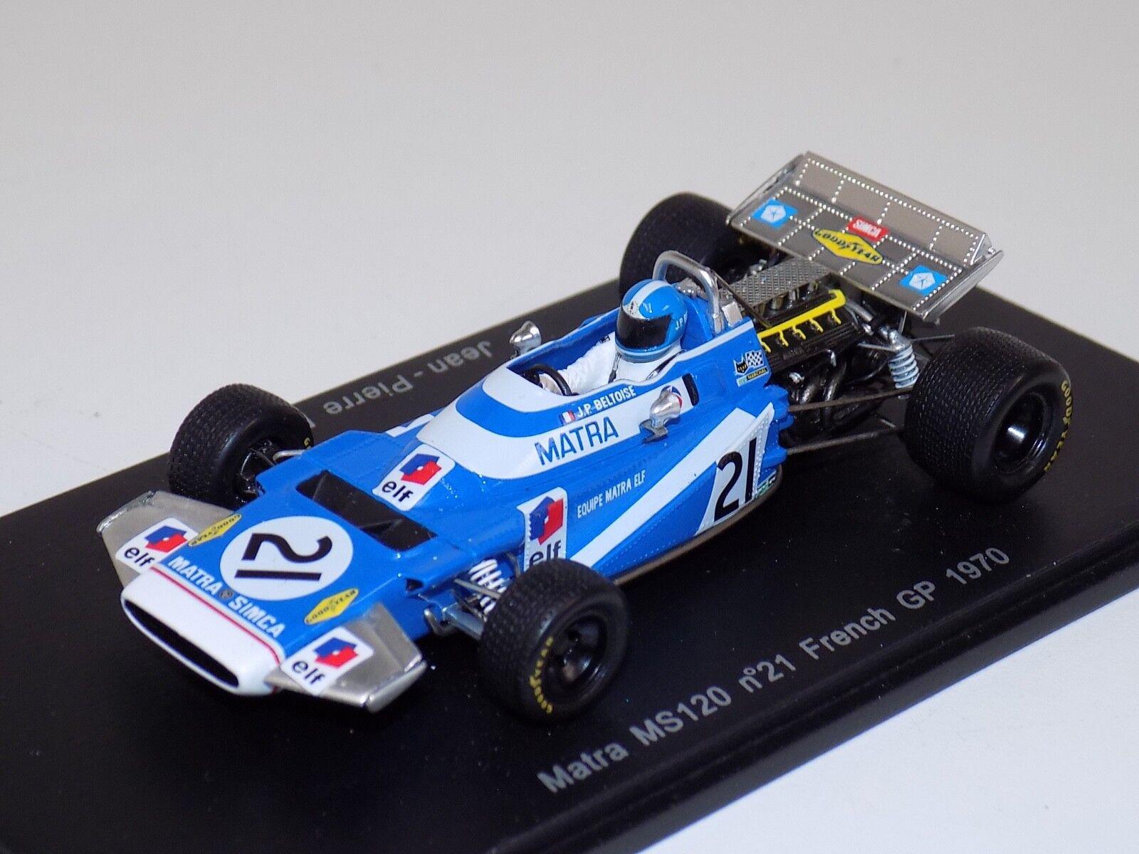 1  43 Spark F1 Formel 1 Matra MS120 Franska GP J.P.Beltoise S1602