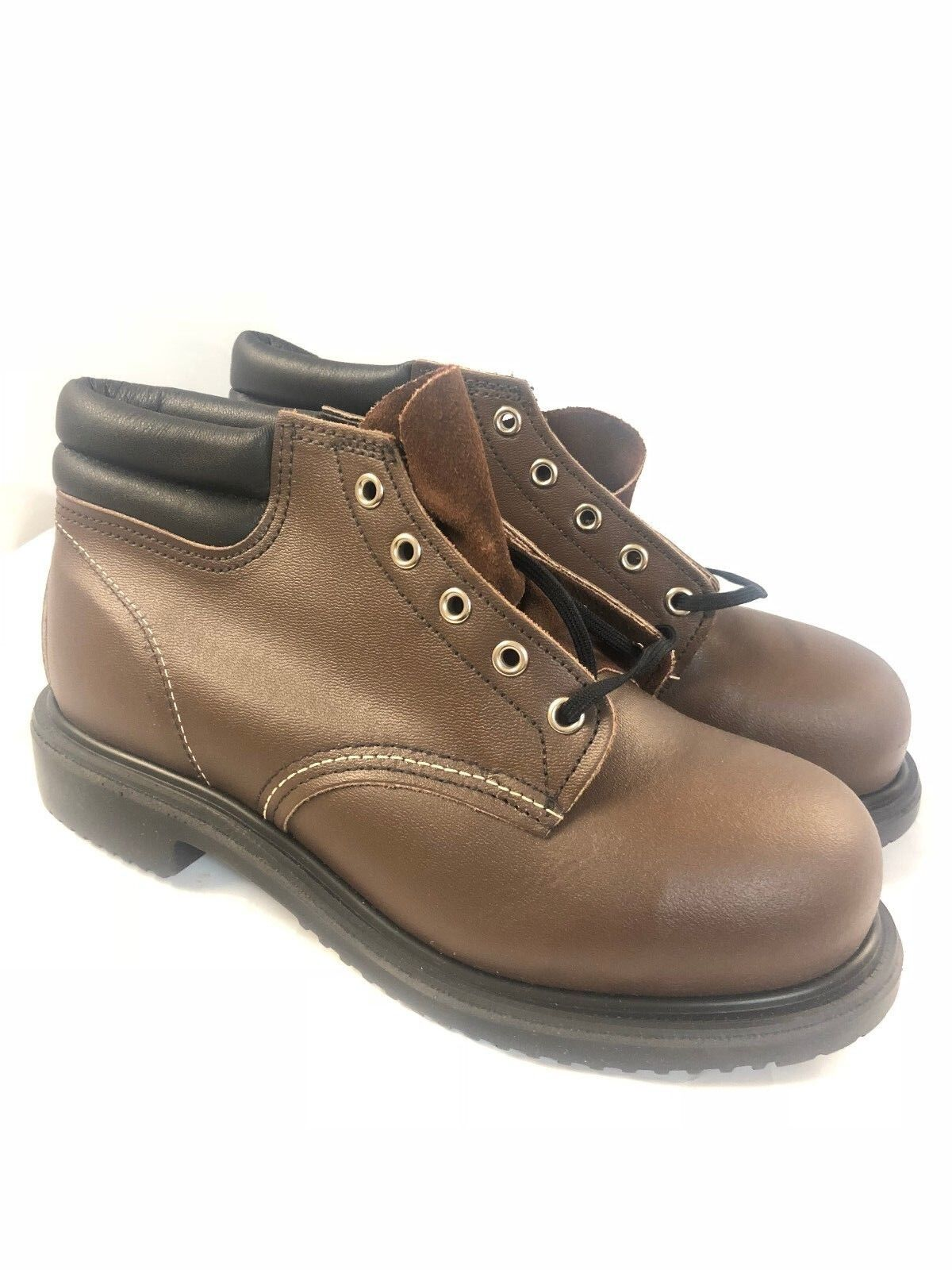 NIB RED WING 8212 MEN'S 5-INCH BOOT BROWN SAFETY SHOES MADE IN USA 6-10 Wide