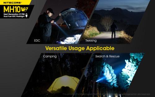 NITECORE MH10 v2 1200 Lumen USB-C Rechargeable Flashlight Battery and Holster