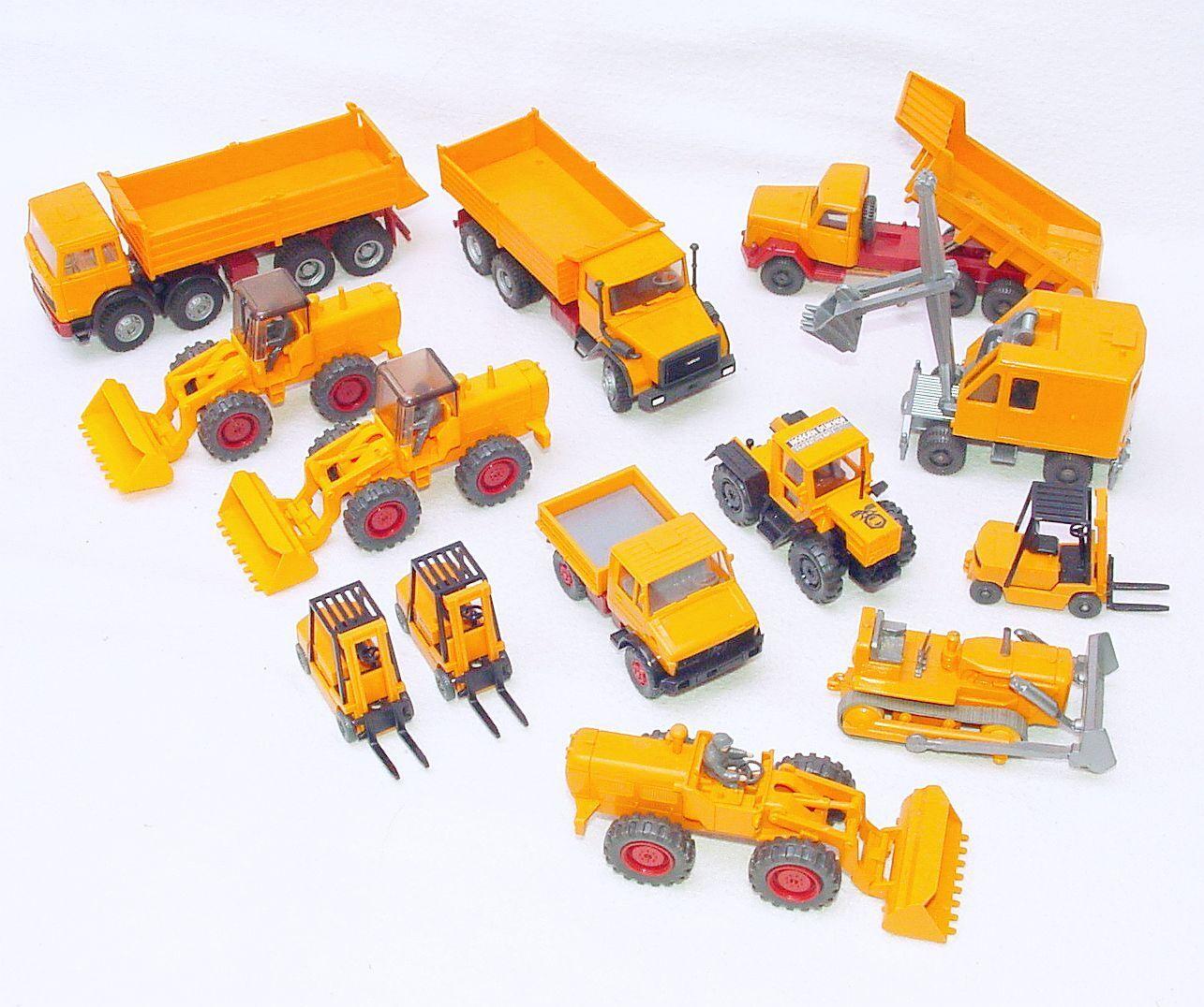 13x Wiking Ho 1 87 Pala Excavadora + + + Hombre Camión MB Tractor Camión + Lote Cocheretilla Elevadora