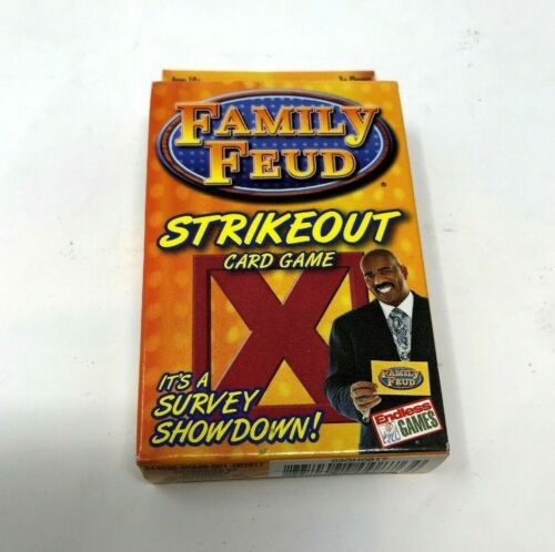 Family Feud Steve Harvey Strikeout Survey Showdown Card Game 3 Player Ages 10+