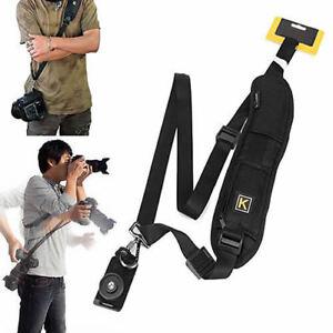 QUICK-STRAP-Camera-Single-Shoulder-Belt-Sling-SLR-DSLR-Cameras-Canon-Sony-Nikon