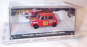 James Bond Car Collection Austin Mini Ohmss Mint Boxed Ebay