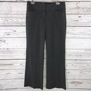 Express Womens SZ 4R Dress Pants Editor Solid Gray Flat Front Low-Rise Career