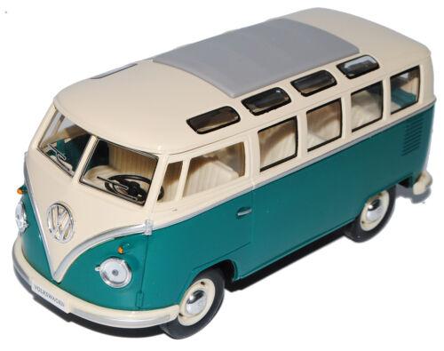 VW Volkswagen T1 Grün Weiss Samba Bully Bus 1950-1967 1//24 Modellcarsonline Mode