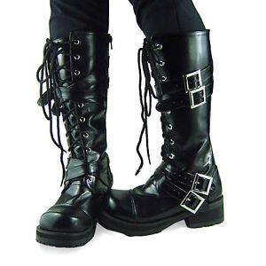 Das Bild wird geladen schwarz-gothic-gotik-punk-stiefel-boots-Shoes-Schuhe- eff35a465b