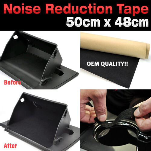 Car Studio Acoustic Soundproofing Noise Reduction Felt Tape 19x19inch For MAZDA