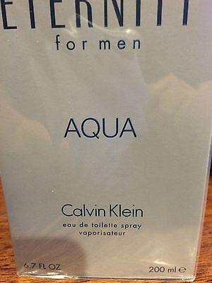 ETERNITY AQUA BY CALVIN KLEIN MEN COLOGNE MEN 6.7 6.8 OZ 200 ML EDT SPRAY NIB