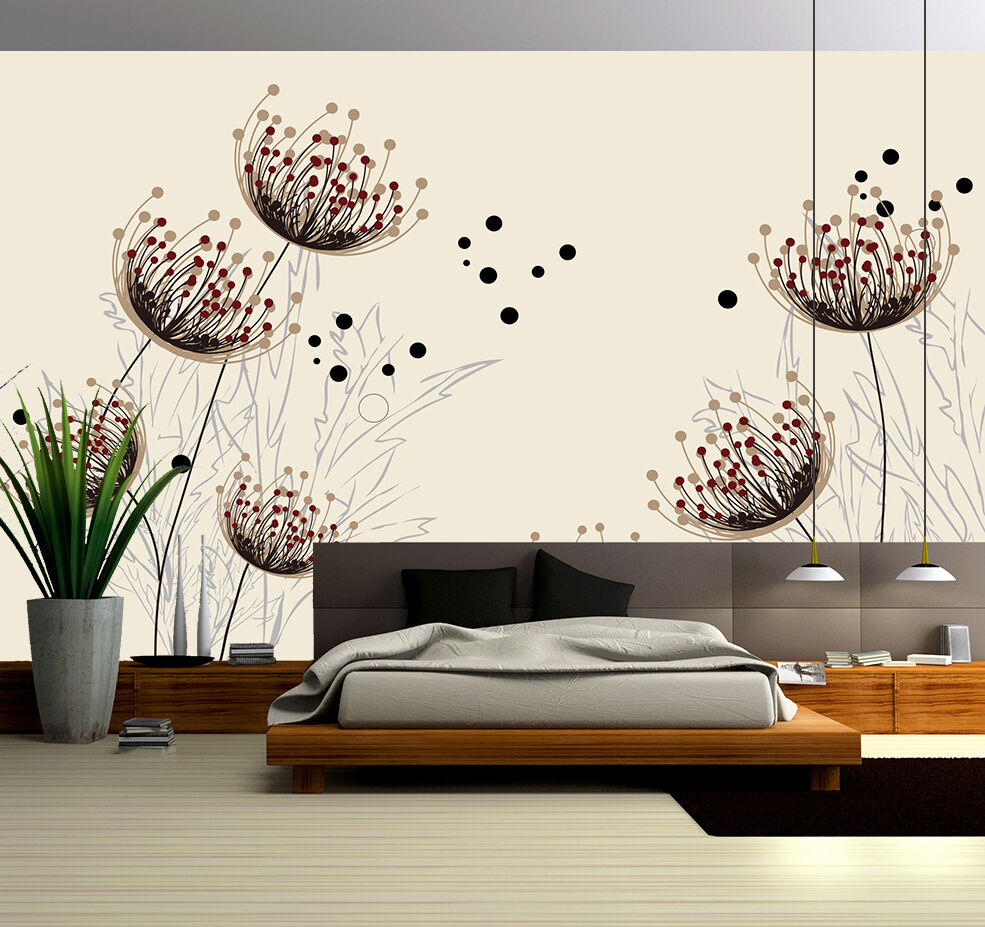3D Dandelion, seed 6567 Wall Paper Print Wall Decal Deco Indoor Wall Murals