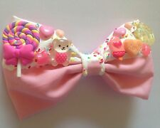 Candy Sprinkles Hair Bow Fairy Kei Decora Melting Dripping Kawaii Pastel Pink