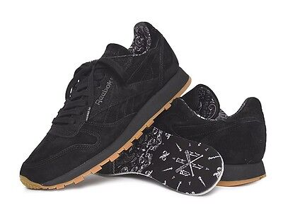 591b370402 Reebok CL Classic Leather BD3230 TDC Black/White/Gum Original Shoes Men's