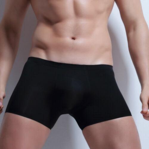 Sans Couture Hommes Ice soie Invisible Sous-vêtements Boxer Shorts Ardennes Pouch M-3XL