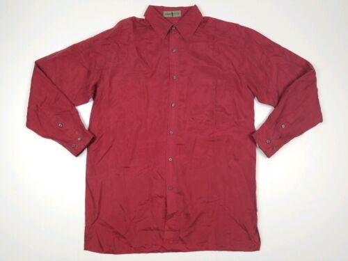 Robert Stock Mens Vintage 90s Silk Long Sleeve But