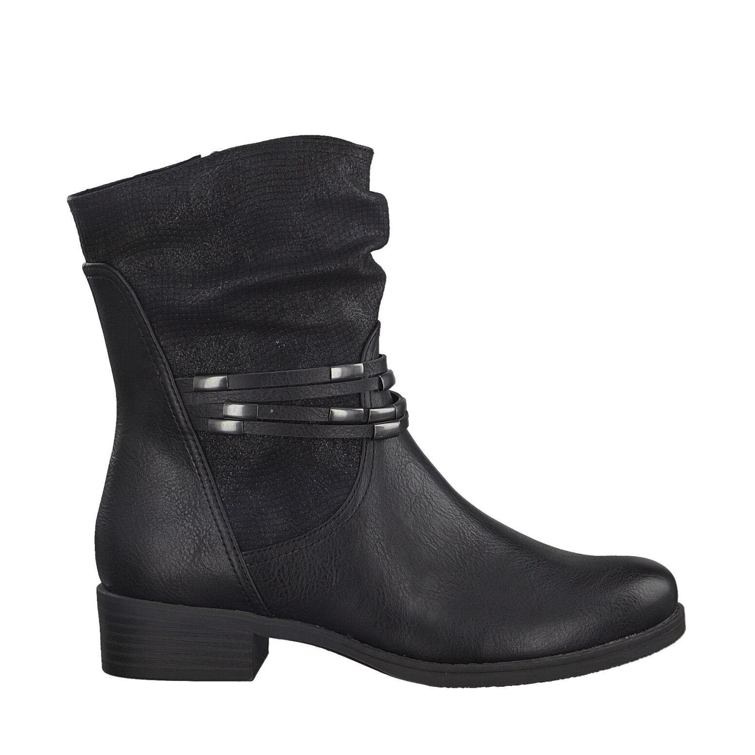 Marco Tozzi 2-2-25305-29 096 Damen Schuhe Biker Stiefel Stiefeletten schwarz