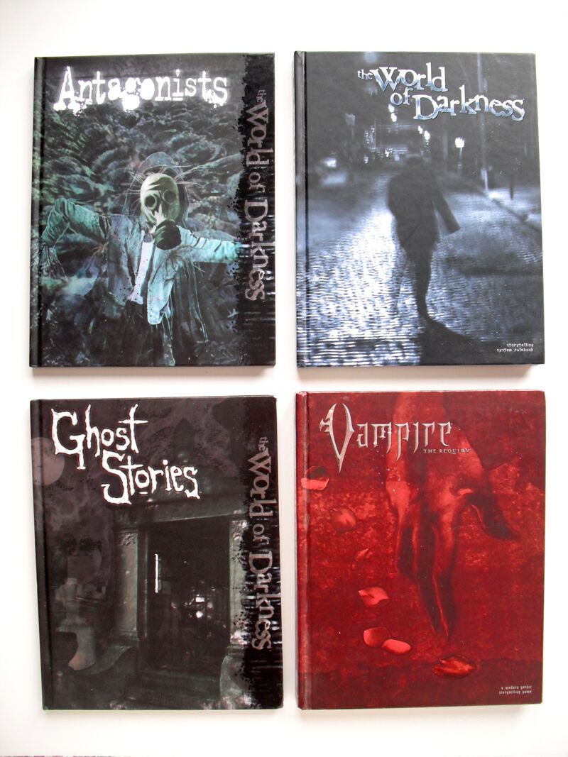 The WORLD OF DARKNESS  Horror  RPG Book Lot (SET OF 4) Roleplaying Game System