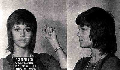 JANE FONDA MUG SHOT GLOSSY POSTER PICTURE PHOTO mugshot activist vietnam war 777