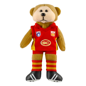 NEW-Official-Gold-Coast-Suns-Heritage-Player-Beanie-Bear