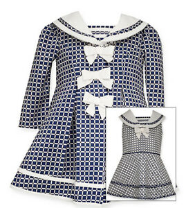 6dea020f5b656 Bonnie Jean Little Girls Navy Sailor Nautical Dress & Coat Set 4 5 6 ...