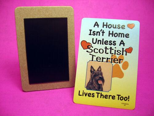 "/""Scottish Terrier/"" A House Isn/'t Home Dog Fridge Magnet Sku# 55"