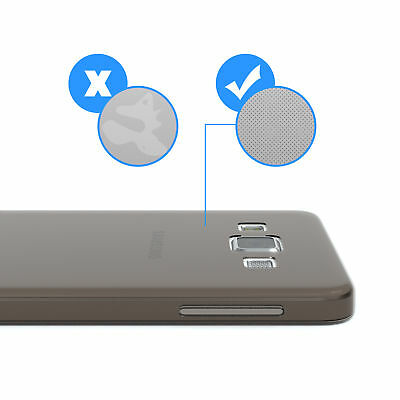 Ultra Slim Cover für Galaxy A3 (2015) Case Silikon Hülle Transparent Anthrazit