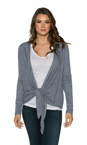 Velvet by Graham /& Spencer Margaret Textured Knit Tie Front Cardigan