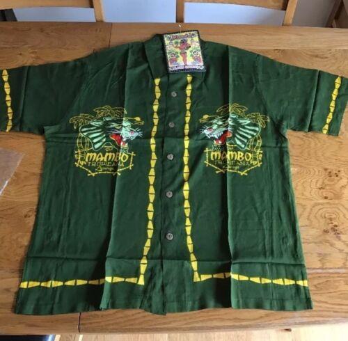 Medium Green Lounge Tropicana Mambo Loud Tiki Australian Shirt Rara Hawaiian qrO7trw