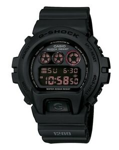 Casio G Shock * DW6900MS-1 Military Series Classic All Black Digital COD PayPal