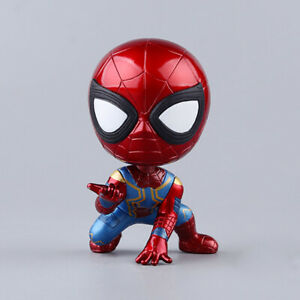 4-039-039-Avengers-Spiderman-Iron-Spider-Man-Bobble-Head-Action-Figure-Toy-Accessories
