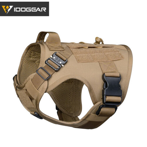 IDOGEAR Tactical Dog Vest Dog Harness w// Handle MOLLE Padded Training Dog Gear