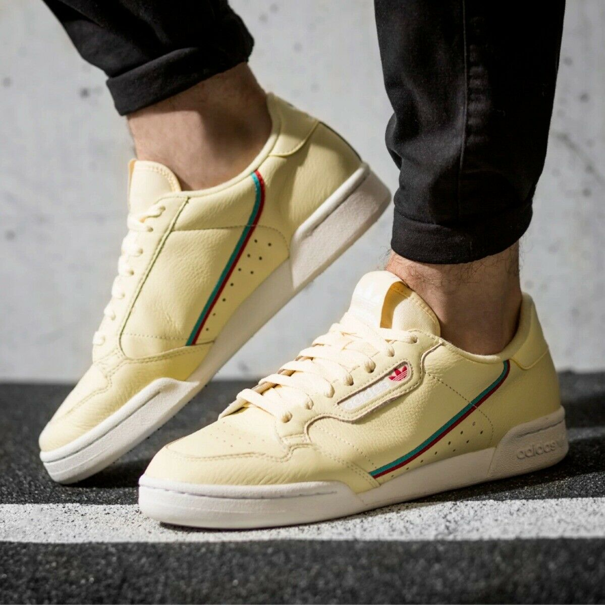 New ADIDAS Originals Continental 80 Sneaker Mens light yellow all sizes
