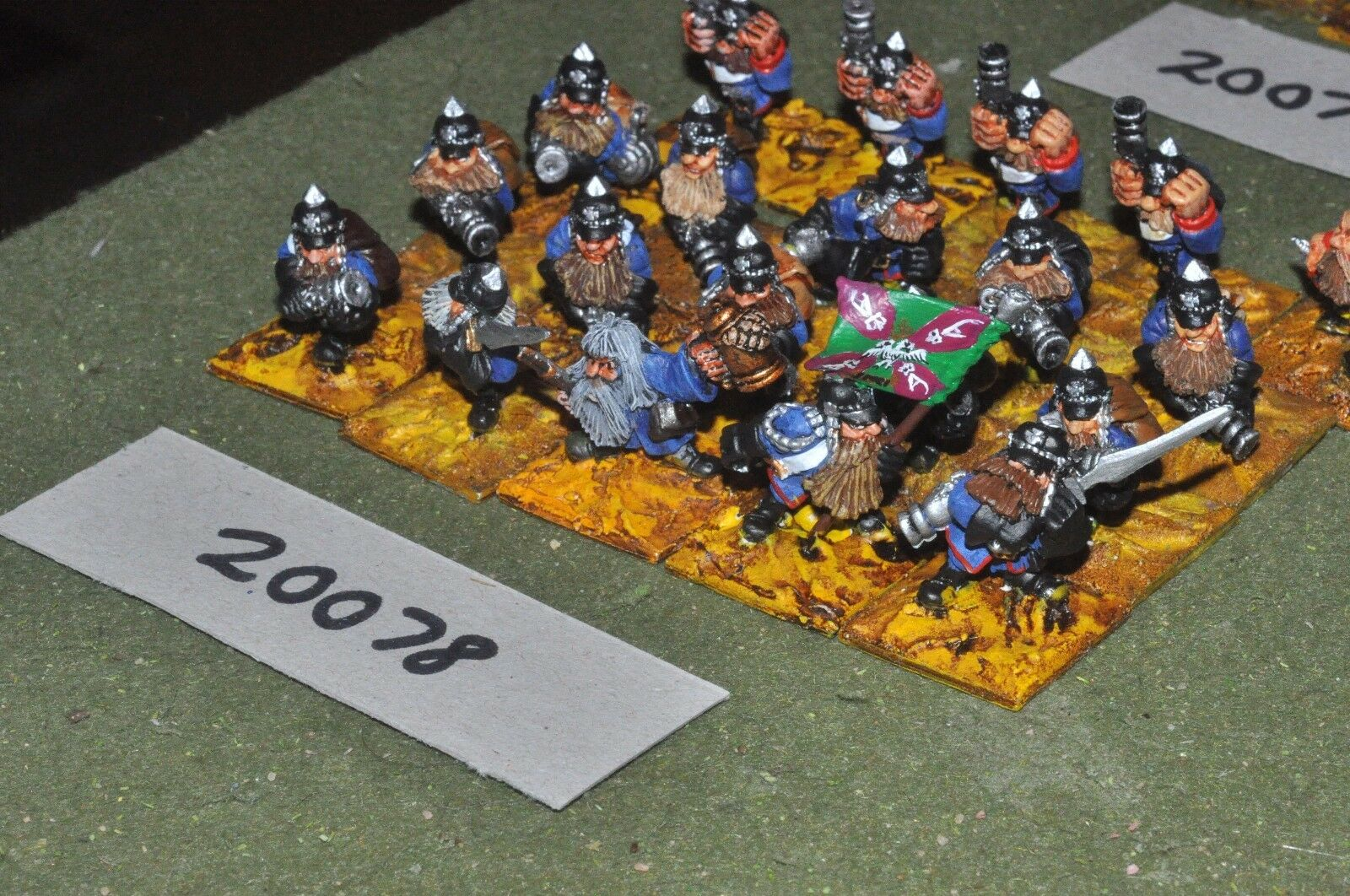 28mm flintloque fantasy dwarf infantry 20 figures {16} (20078)