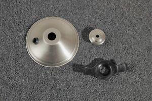 Hunter Ceiling Fan Light Kit New Parts Br Nickel Cap Finial Globe Retainer Ebay