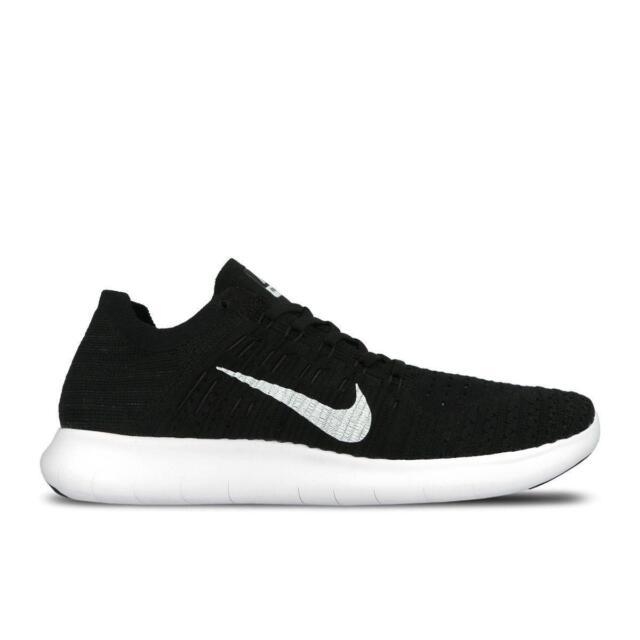 4345fb001716 Nike RN Flyknit Run Black White Mens Running Shoes Trainers 831069 ...