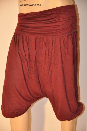 Aladin Pump Pluder-PANTALONI HAREM TROUSERS PANTS Goa Hippie Psy Yoga brevemente inde 3//4